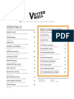 Vetted Well a Alamo Drafthouse cocktail menu
