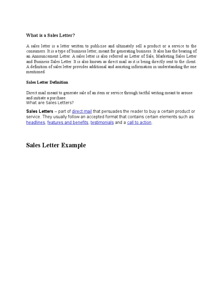 What Is A Sales Letter Letter Of Credit Credit Finance