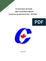 Règles sur la chefferie du Parti conservateur du Canada