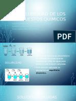 solubilidad en los compuestos quimicos