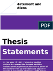 thesis statement and introductions