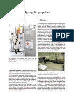 Hypergolic Propellant