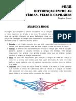 038 Anatomy Book Diferenças Entre Artérias e Veias