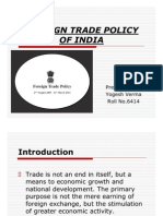 foreign trade policy of india 2009-14 ykv