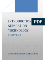 introduction to separation technology