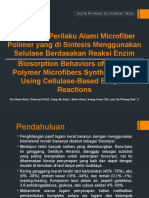 Biosorpsi Perilaku Alami Microfiber Polimer Yang Di Sintesis