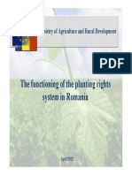 The functioning of the planting rights system in Romania