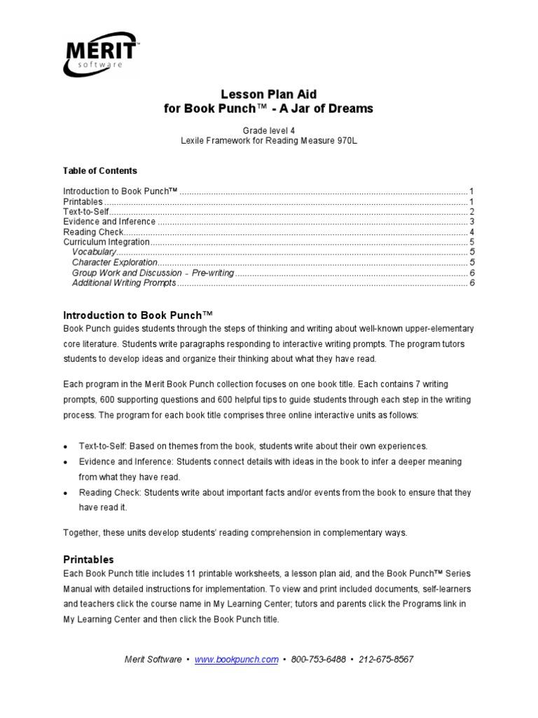 worksheet Sarah Plain And Tall Worksheets workbooks inference worksheets grade 4 free printable a jar of dreams lesson plan reading comprehension
