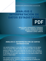 Exposición Analisis e Interpretacion de Datos Estaditicos