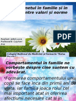 Comportamentul in Familie Si Societate