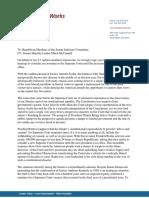 Letter to Republican Members of Senate Judiciary on SCOTUS