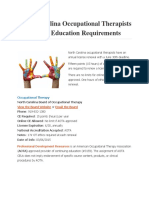 North Carolina Occupational Therapists Continuing Education Requirements