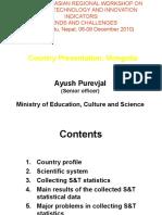 Country Presentation- Mongolia