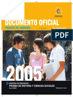 2005 Demre 21 Muestra Preguntas Historia