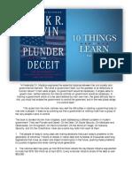 plunder   deceit