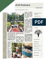 Parable - IIM Ranchi, August 2015