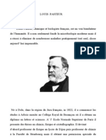 Research on Louis Pasteur