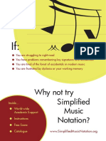 Simplified Music Notation