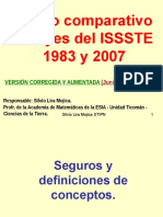 Comparativo a ley del ISSSTE