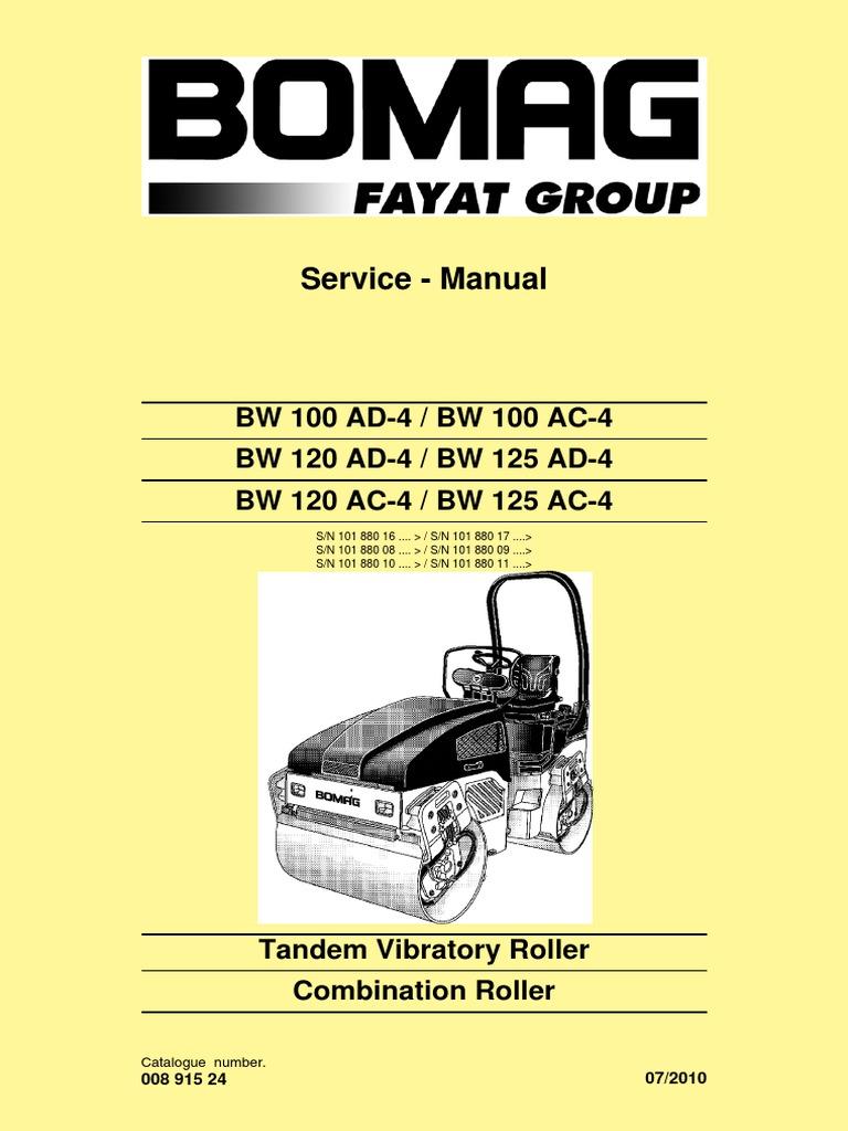 manual de servicio bw 120 ad 4 pdf electrical connector screw rh scribd com bomag roller operators manual bomag roller workshop manual
