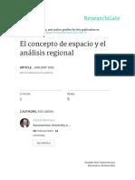 Daniel Hernaux y Alicia Lindon - El Concepto de Espacio y el Analisis Regional