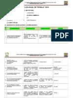 Plan Anual de Trabajo - Rer Achaya Caminaca Taller- 2016