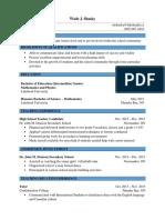 wade shasky - resume