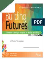 building futures certificate