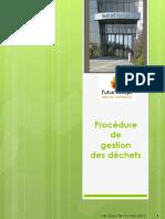 Procedure Gestion dechets