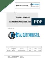 PROCEDIMIENTO ESPECIFICACIONES TECNICAS OBRAS CIVILES