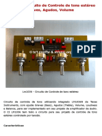 Lm1036 – Circuito de Controle de Tons Estéreo Graves, Agudos, Volume