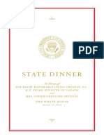 Canada State Dinner 2016
