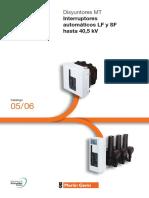 Interruptores Automaticos Lf y Sf - Media Tension