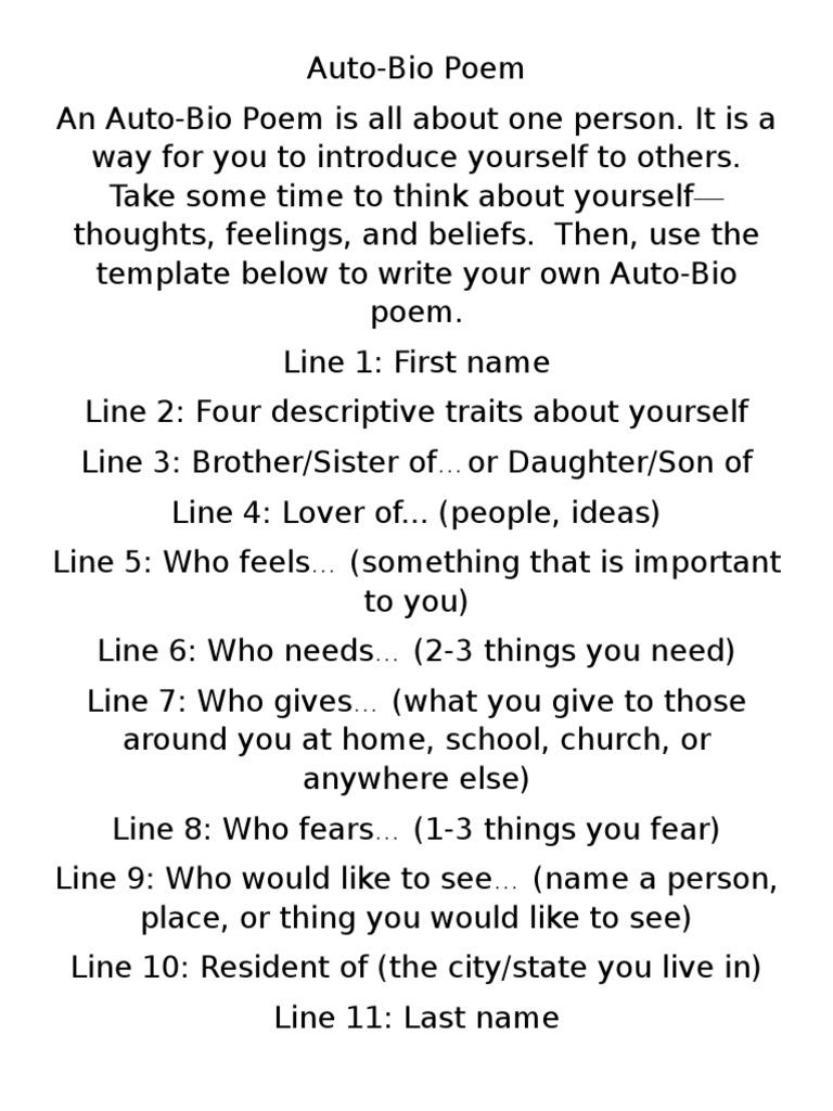 Bio Poem  PDF