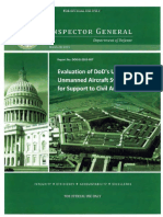 Evaluation of DoD's Use of Unmanned Aircraft Systems (UAS) for Support to Civil Authorities