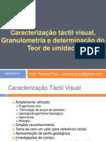 caracterização tátil visual