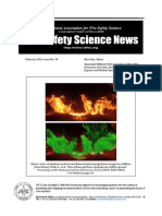 Fire Safety Science News #39 - March, 2016