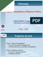 Hidrologia - Aula 02 - Bacia e Balanço Hidrico - CTEC - UFAL