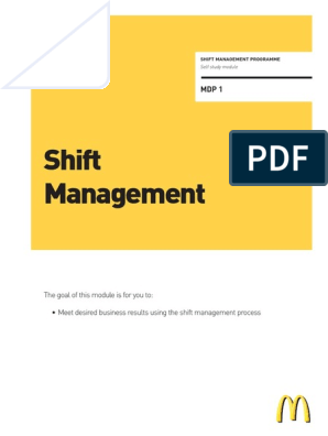 Mcdonalds Shift Management