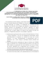 Comisión Electoral - Resolución Corrección Errores Censo Definitivo