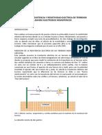 Resistencia y resistividad de terrenos mediante electrodos hemisféricos