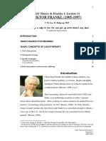 Dr Rigdway - Lecture Viktor Frankl
