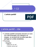 Article Partitif