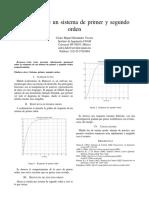 Respuesta Primer y Segundo Orden de un Osiclador de Van der Pol