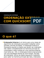 Ordenação Externa Com Quicksort - Ciência Da Computação - Ufpb