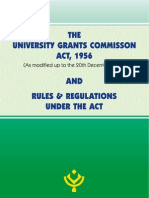 The University Grants Commission Act 1956 UGC Act 1956