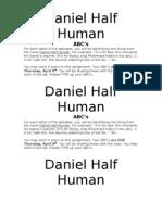 Daniel Half Human ABC Review