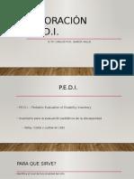 Valoración P.E.D.I.