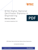 BTEC HND in Engineering Delivery Guide