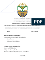 EMMU 7141-Manufacturing Engineering and Production Management-Marking Scheme Feb 2016